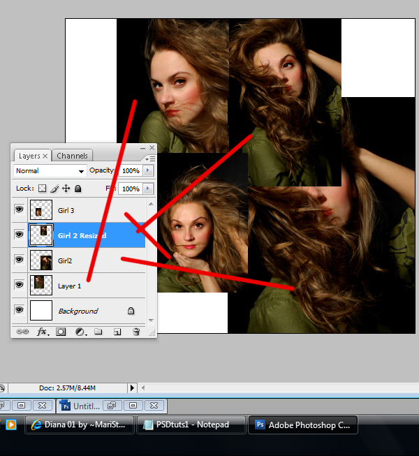 4 Montagem de quatro fotos no Photoshop photoshop
