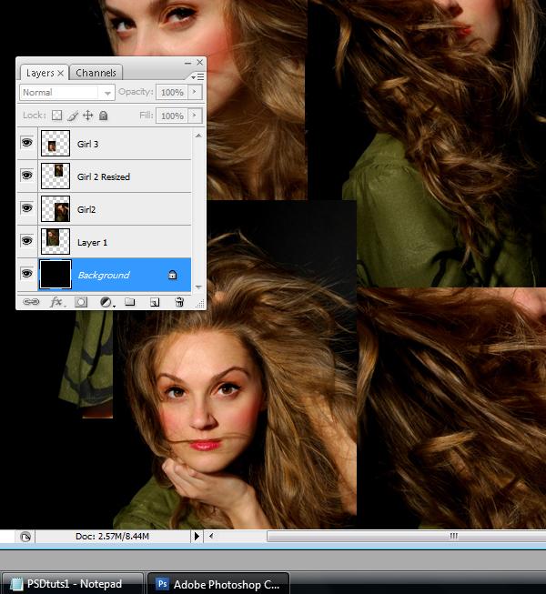 5 Montagem de quatro fotos no Photoshop photoshop