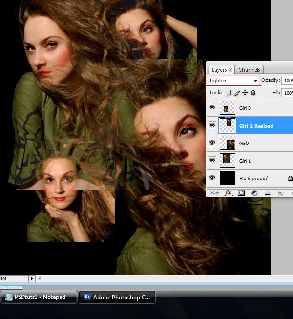 6 Montagem de quatro fotos no Photoshop photoshop