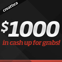 Win $1000 by submitting work to Creattica!