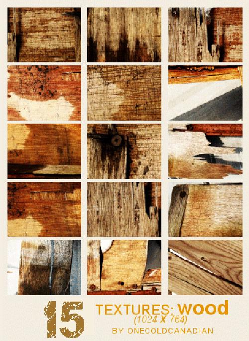 Wood Textures -15 Textures