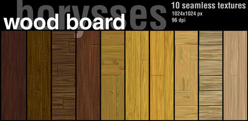 Wood Board (10 Textures, Seamless)