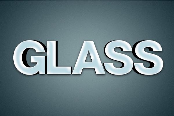 10 Hiệu Ứng 3D Text trong Photoshop: Chữ Glass