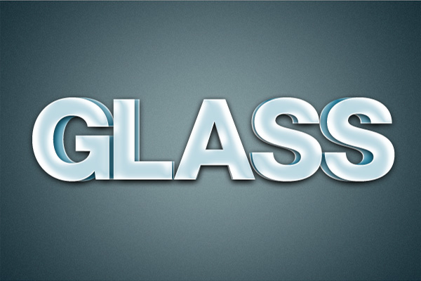 15 Hiệu Ứng 3D Text trong Photoshop: Chữ Glass