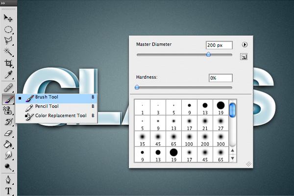 16 Hiệu Ứng 3D Text trong Photoshop: Chữ Glass