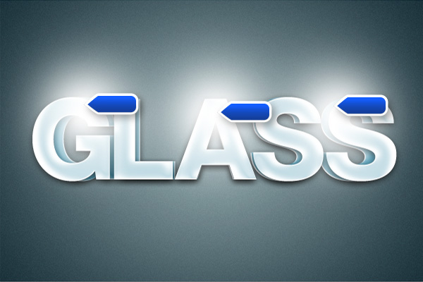 17 Hiệu Ứng 3D Text trong Photoshop: Chữ Glass