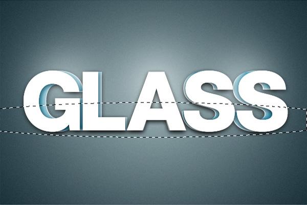 18 Hiệu Ứng 3D Text trong Photoshop: Chữ Glass