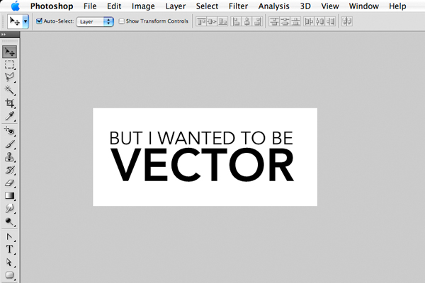 Converting Photoshop text to vector for use in Illustrator