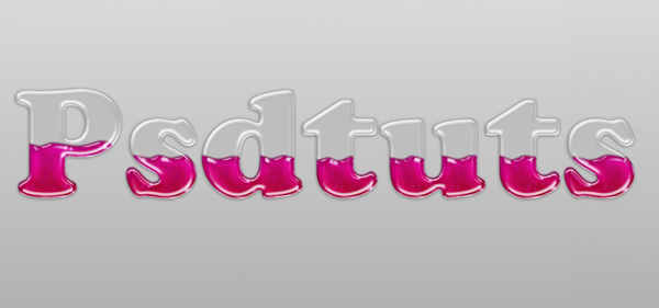 Quick Tip: Create Liquid Filled Glass Text in Photoshop