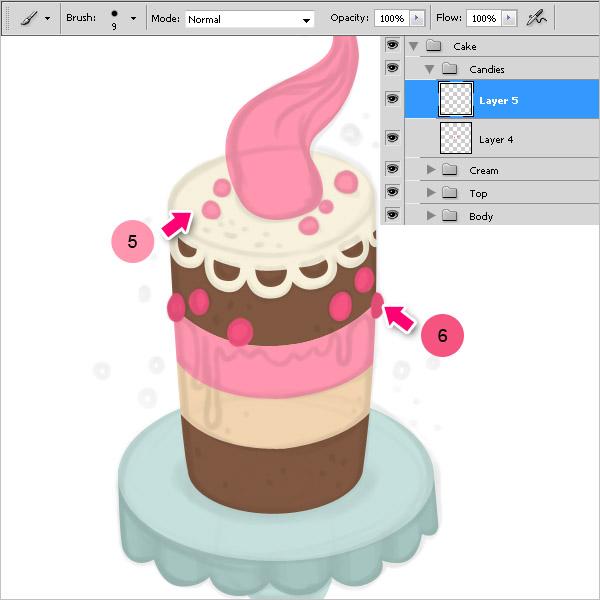 Как рисовать торт в фотошопе