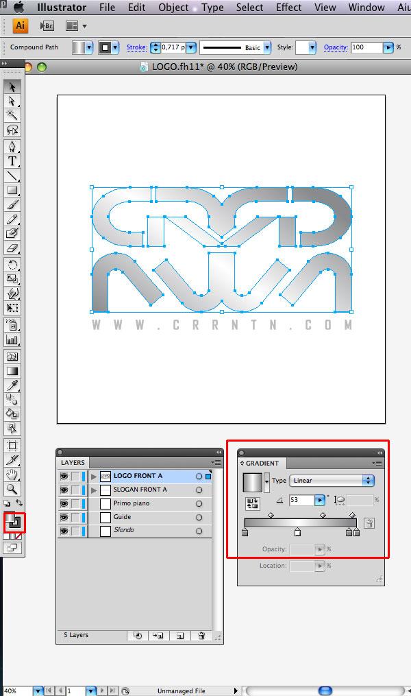 STEP 02 Tạo Typography 3D Thủy Tinh trong Photoshop và Illustrator