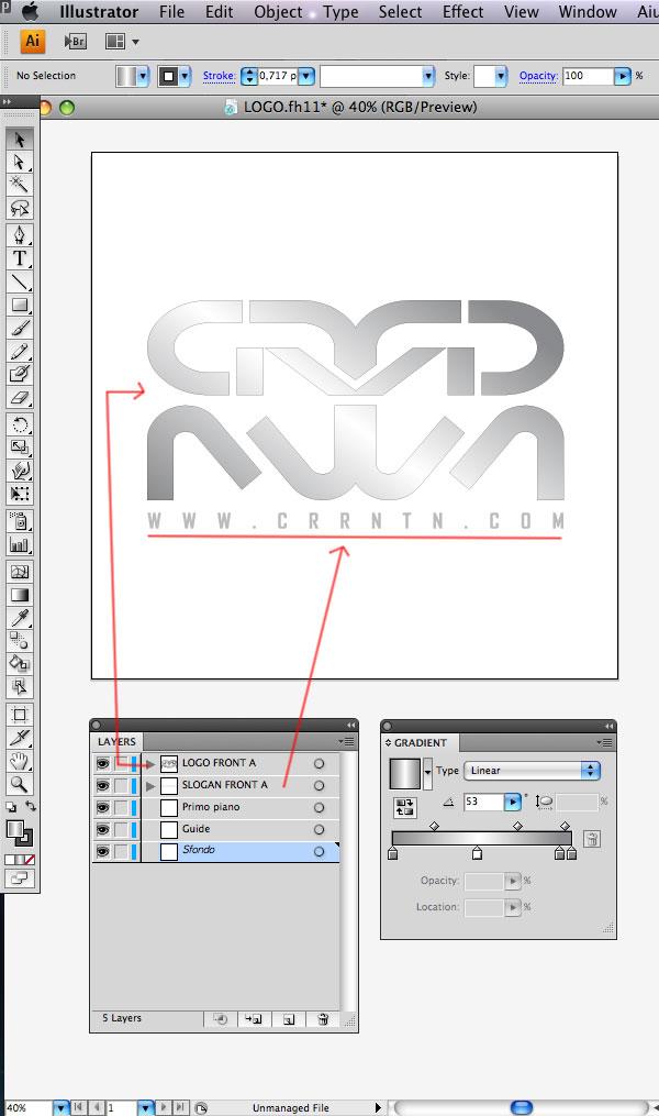 STEP 03 Tạo Typography 3D Thủy Tinh trong Photoshop và Illustrator