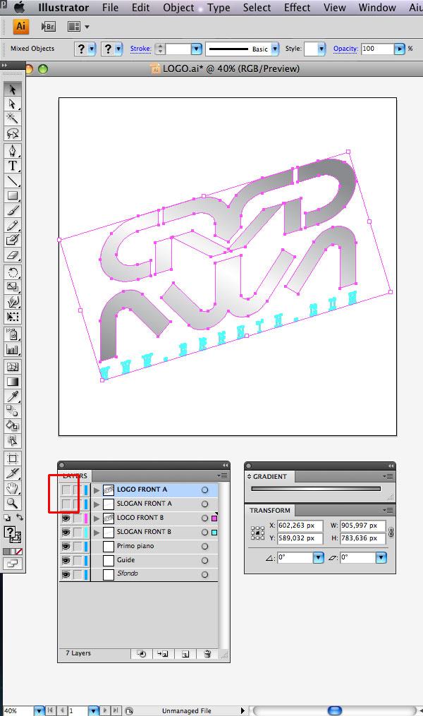 STEP 08 Tạo Typography 3D Thủy Tinh trong Photoshop và Illustrator