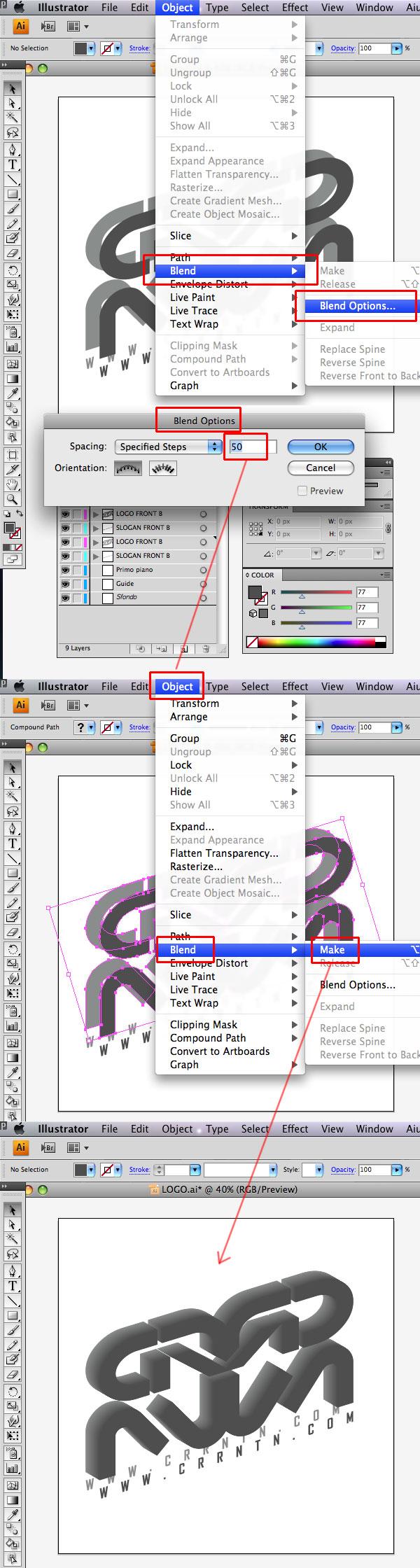 STEP 13 Tạo Typography 3D Thủy Tinh trong Photoshop và Illustrator