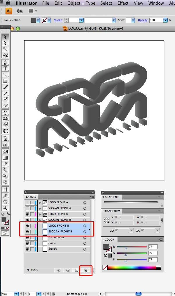 STEP 14 Tạo Typography 3D Thủy Tinh trong Photoshop và Illustrator