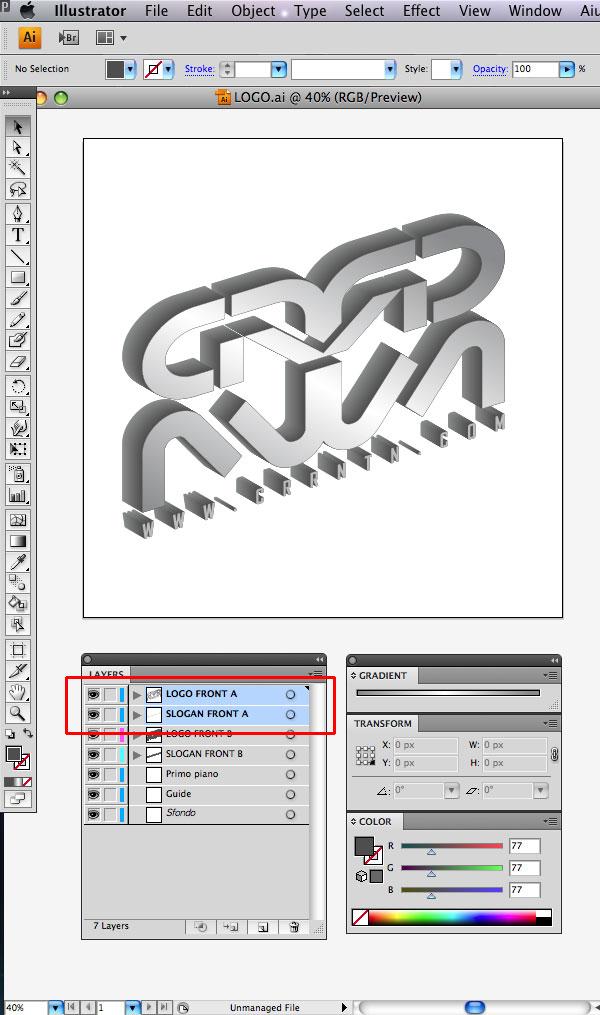 STEP 15 Tạo Typography 3D Thủy Tinh trong Photoshop và Illustrator