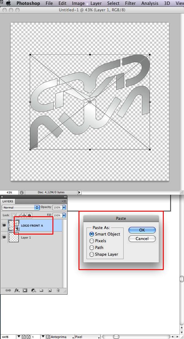 STEP 16 Tạo Typography 3D Thủy Tinh trong Photoshop và Illustrator