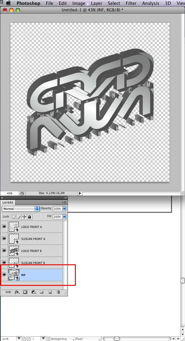STEP 17 Tạo Typography 3D Thủy Tinh trong Photoshop và Illustrator