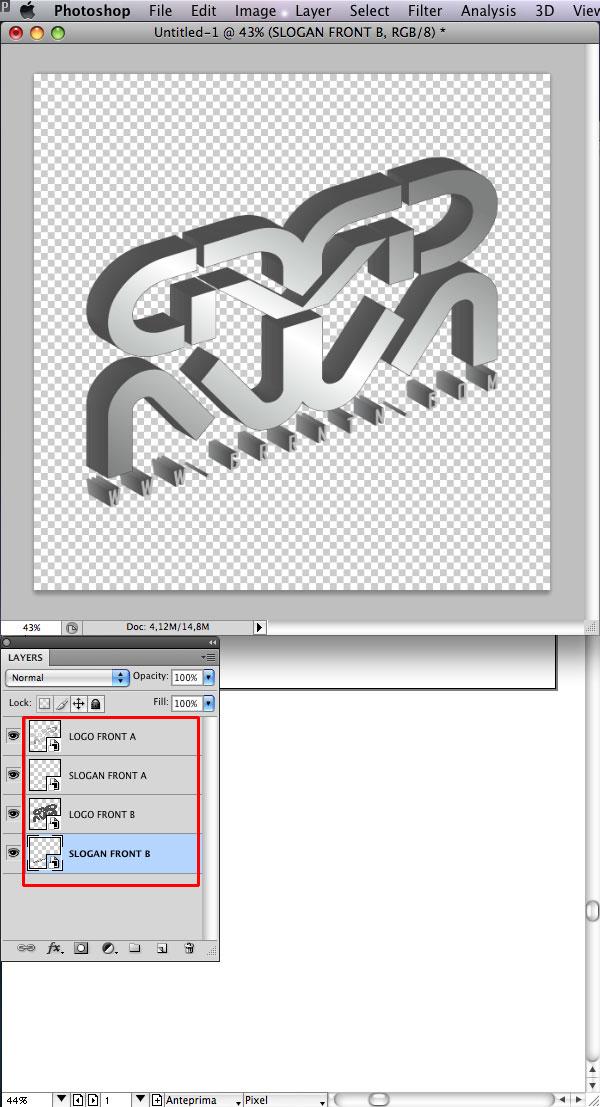 STEP 19 Tạo Typography 3D Thủy Tinh trong Photoshop và Illustrator