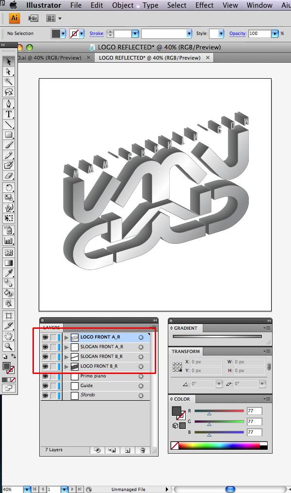 STEP 21 Tạo Typography 3D Thủy Tinh trong Photoshop và Illustrator
