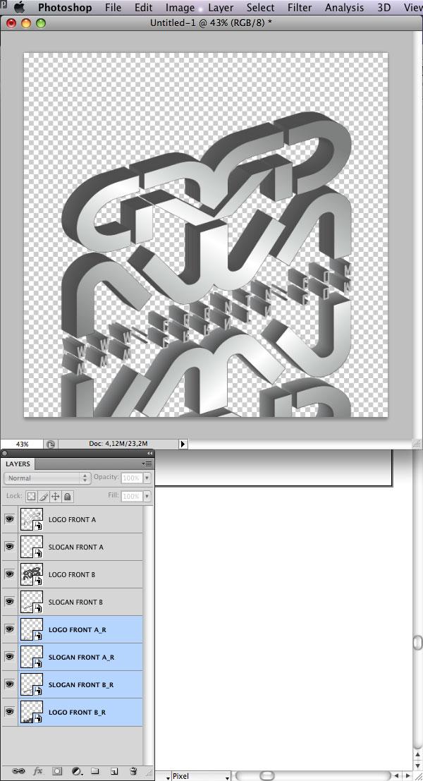 STEP 22 Tạo Typography 3D Thủy Tinh trong Photoshop và Illustrator