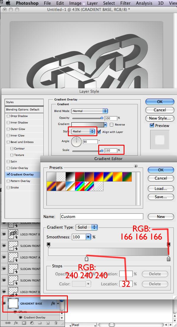 STEP 24 Tạo Typography 3D Thủy Tinh trong Photoshop và Illustrator