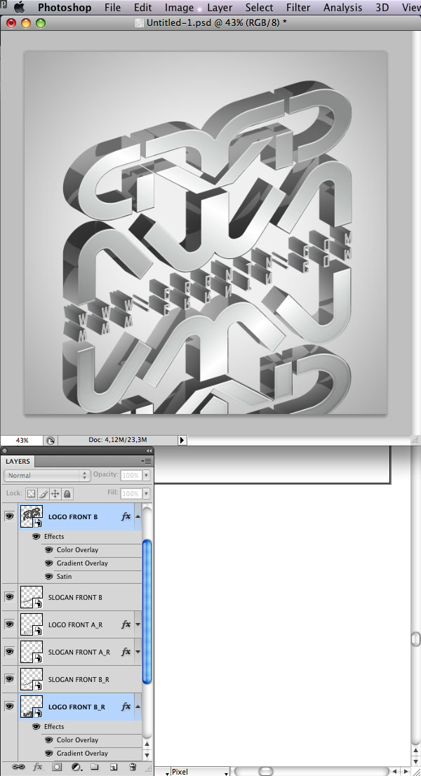 STEP 28 Tạo Typography 3D Thủy Tinh trong Photoshop và Illustrator