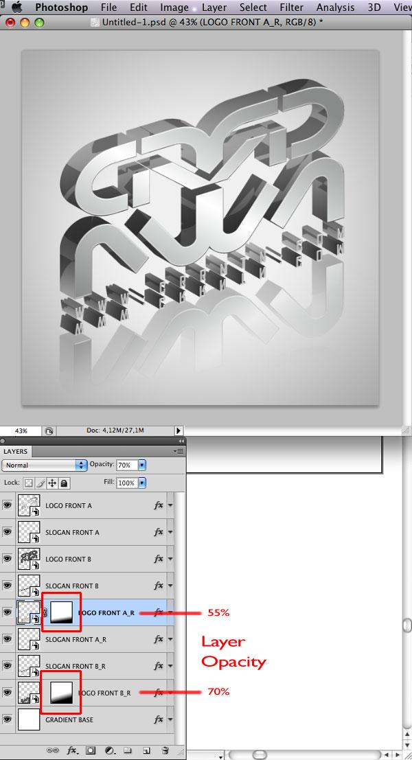 STEP 32 Tạo Typography 3D Thủy Tinh trong Photoshop và Illustrator