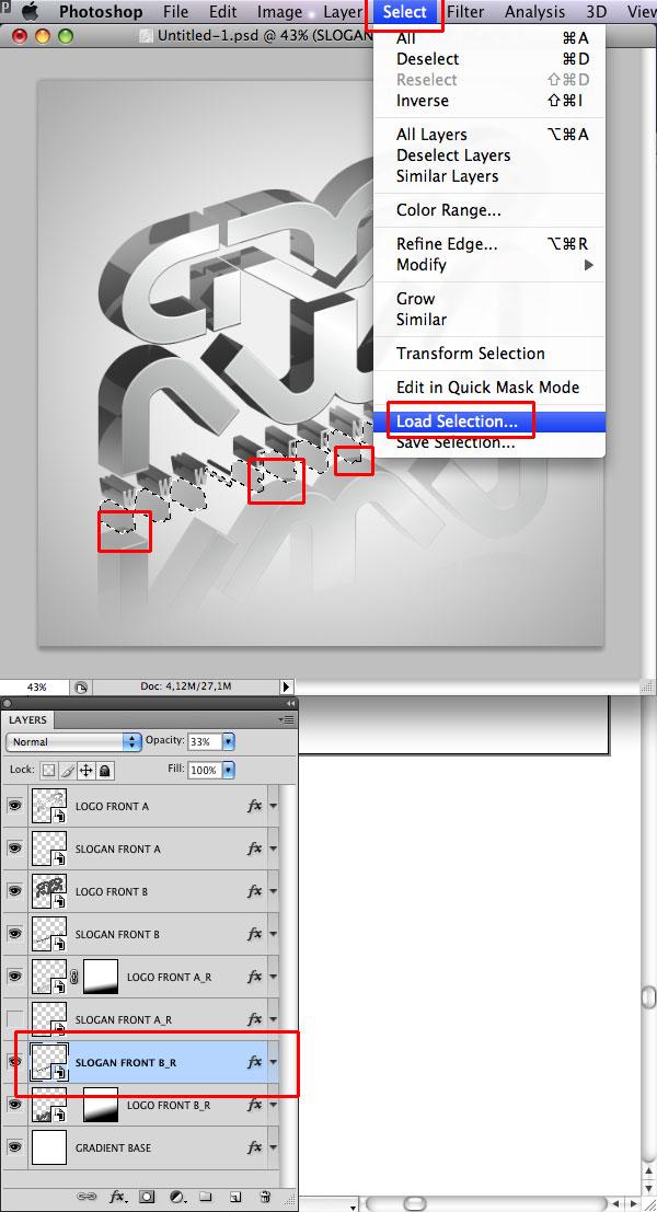 STEP 33 Tạo Typography 3D Thủy Tinh trong Photoshop và Illustrator