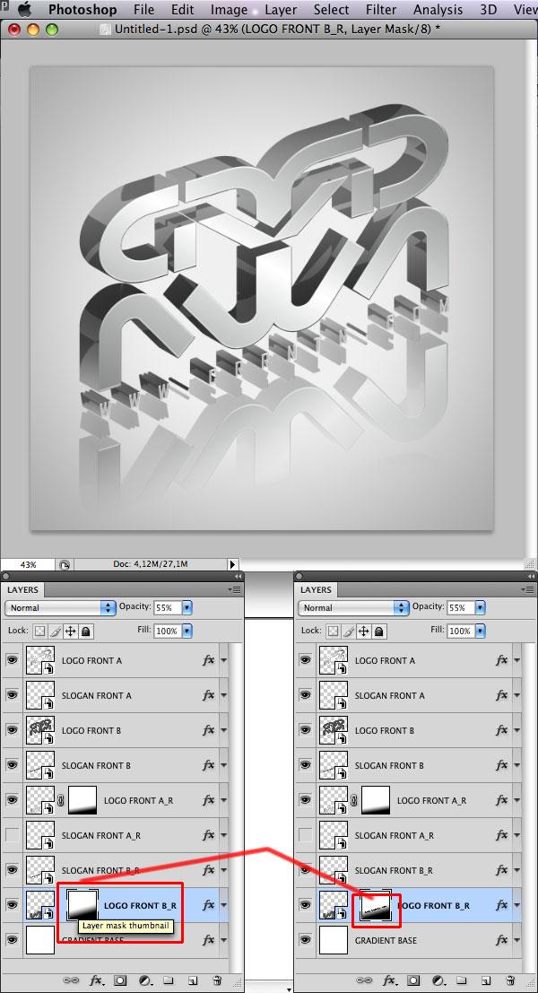 STEP 34 Tạo Typography 3D Thủy Tinh trong Photoshop và Illustrator