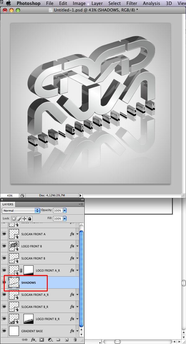 STEP 35 Tạo Typography 3D Thủy Tinh trong Photoshop và Illustrator