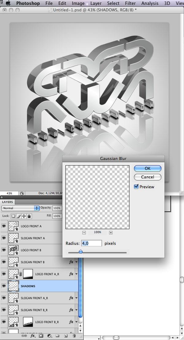STEP 37 Tạo Typography 3D Thủy Tinh trong Photoshop và Illustrator