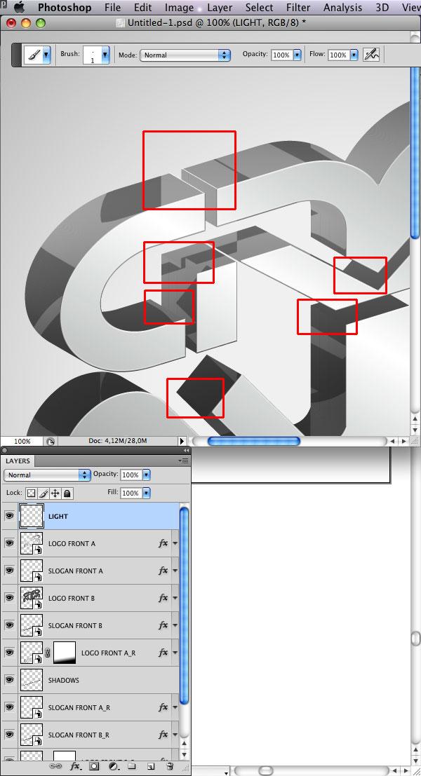 STEP 38 Tạo Typography 3D Thủy Tinh trong Photoshop và Illustrator