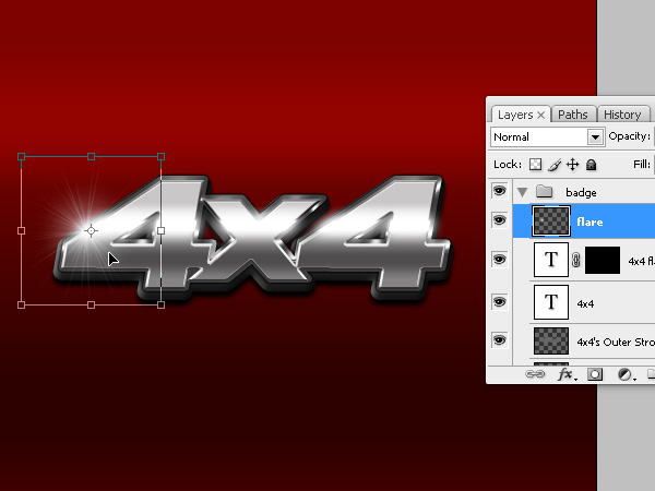 Create a Chrome 4×4 Vehicle Emblem *