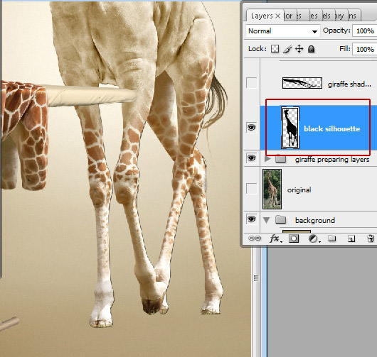 Undress a Giraffe in Photoshop