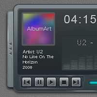 Create a Sleek and Clean MP3 Player Interface