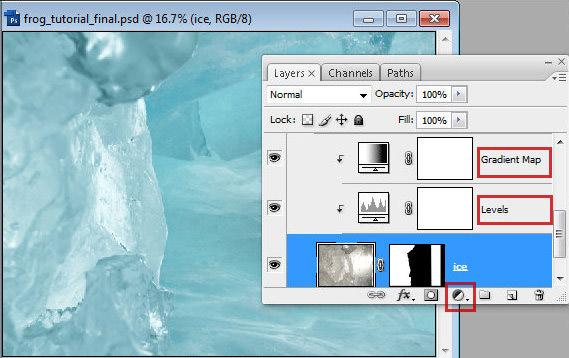 1 10 Chú Ếch Bắc Cực trong Photoshop