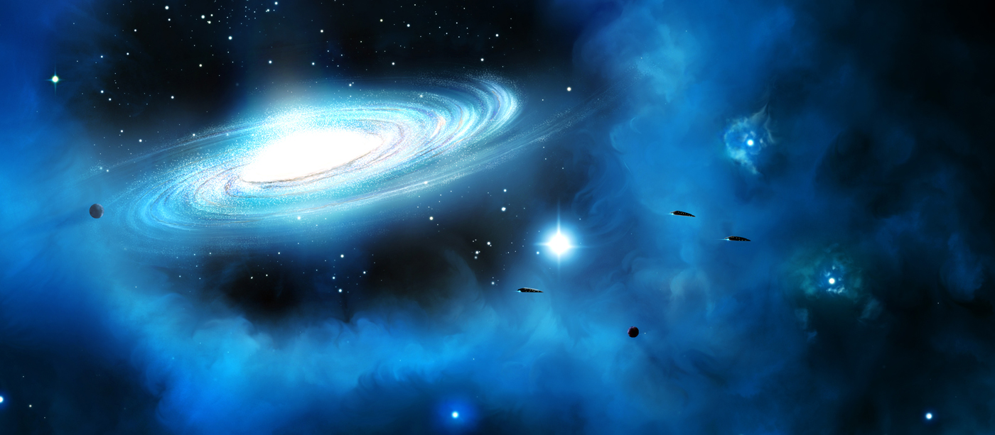 The cosmos create a spiral galaxy tuts design for Space art tutorial