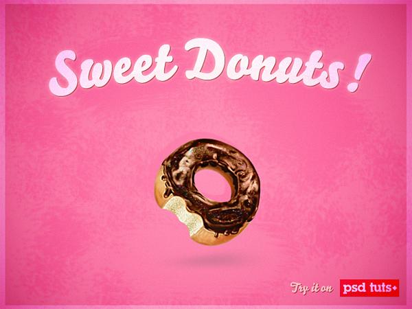 Sweet donut photoshop