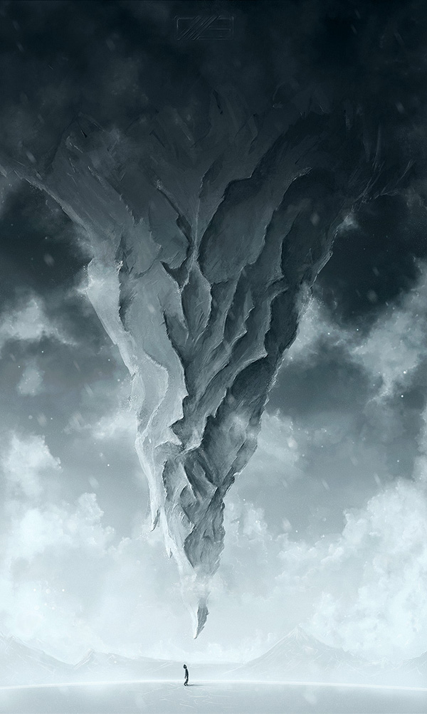 1 - Create a Surreal Upside Down Mountain Painting in Photoshop