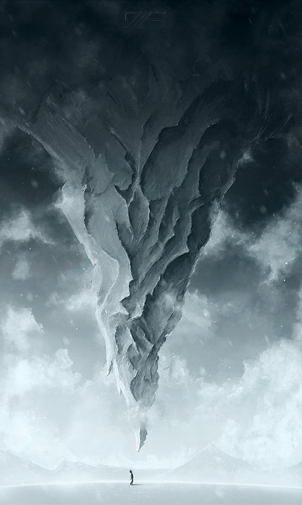 1 Tạo Đỉnh Núi Chĩa Ngược trong Photoshop