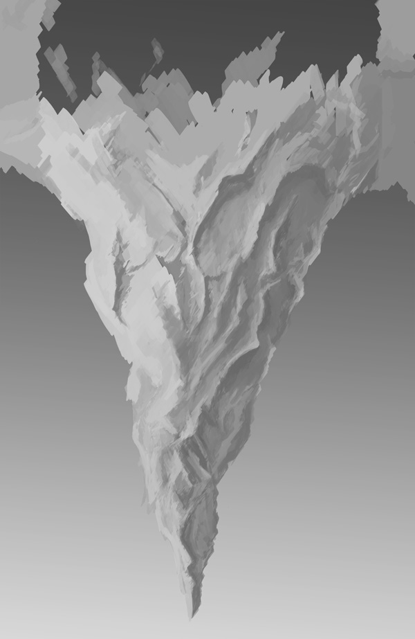 step2 2 - Create a Surreal Upside Down Mountain Painting in Photoshop