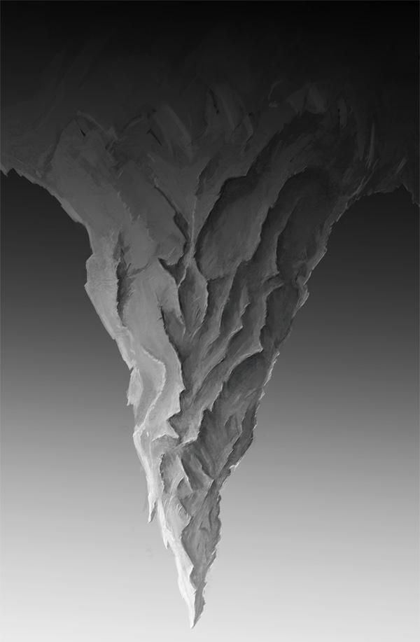 step3 - Create a Surreal Upside Down Mountain Painting in Photoshop