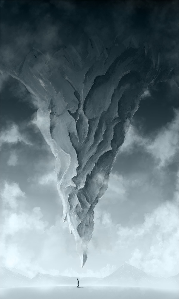 step5 1 - Create a Surreal Upside Down Mountain Painting in Photoshop