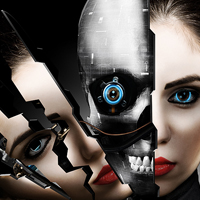 Create a Cybernetic Woman in Photoshop