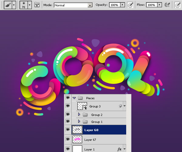 "45 Sử Dụng Paths Tạo Typography ""Cool"" trong Photoshop"
