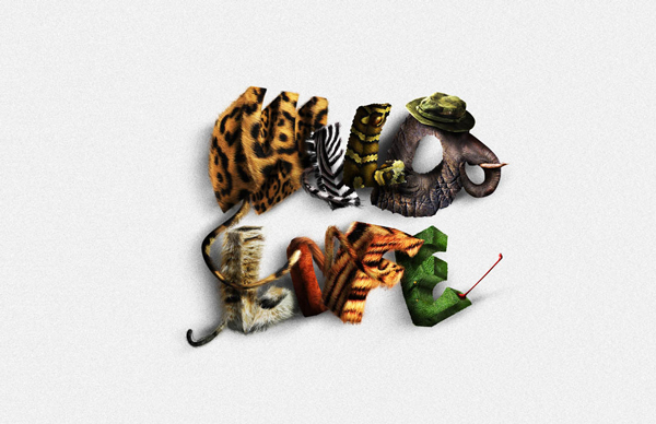 Create Animal Textured Typography
