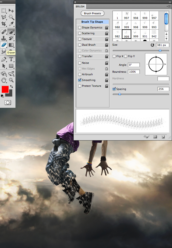 Tutorial efecto de desintegracion Photoshop