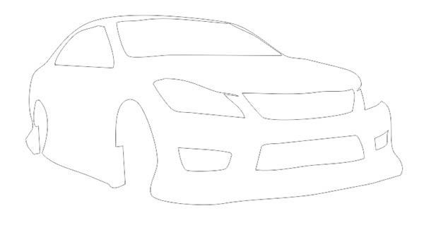 简单赛车素描步骤图片