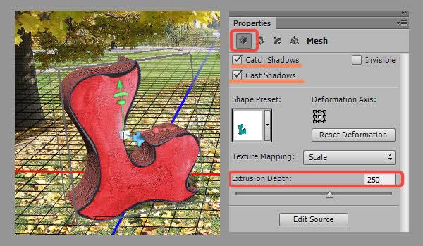 Học step009 Hiệu Ứng Text Mùa Thu với Photoshop CS6 Mở Rộng (P1)
